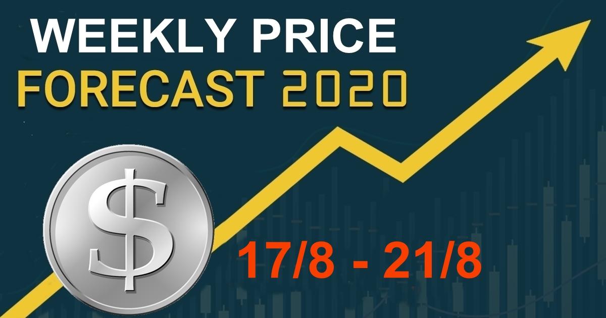 Dự báo giá tuần 17/8 – 21/8, giá thị trường vàng, chỉ số và các cặp tiền.